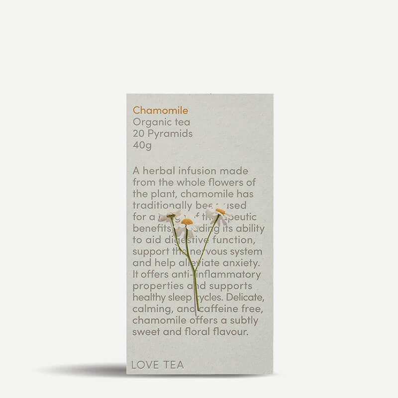 Love Tea Chamomile Tea Pyramids - Natural Supply Co