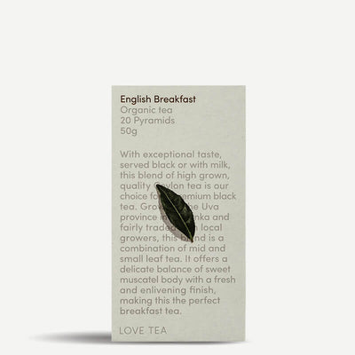 Love Tea English Breakfast Tea Pyramids - Natural Supply Co