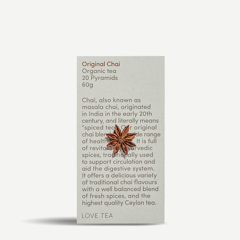 Love Tea Original Chai Tea Pyramids - Natural Supply Co