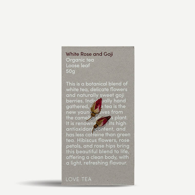 Love Tea White, Rose & Goji Loose Leaf Tea - Natural Supply Co