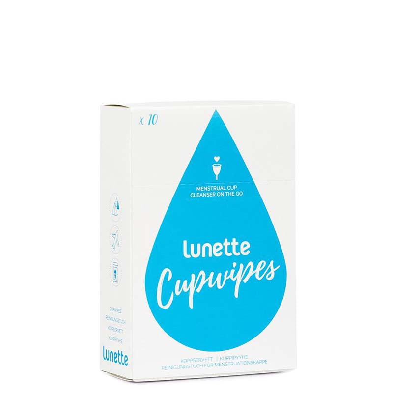 Lunette Cupwipe Menstrual Cup Wipes - Natural Supply Co