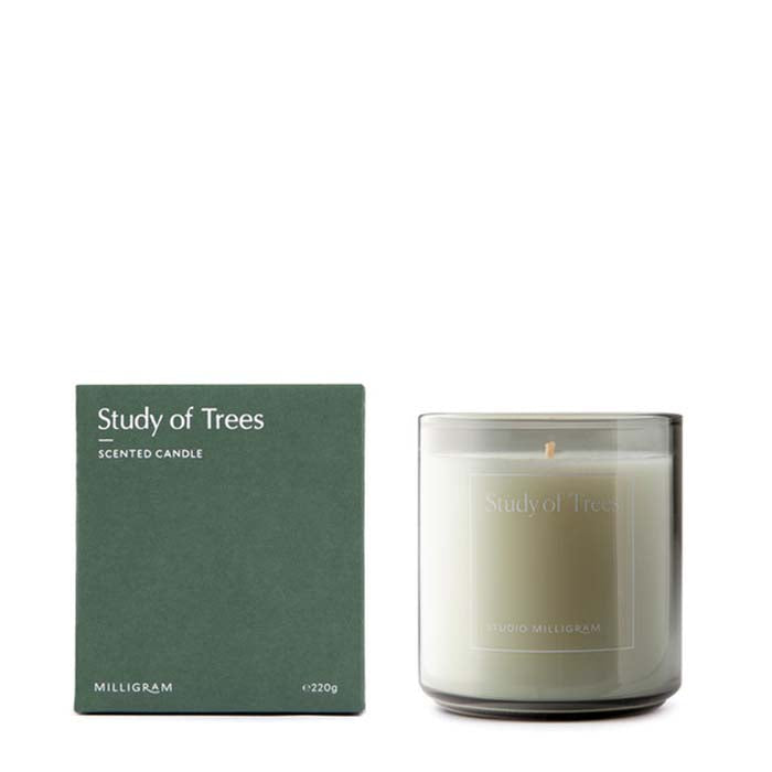 Milligram Sensory Scented Candle - Study of Trees 220g
