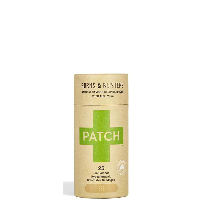 Buy PATCH Aloe Vera Adhesive Bamboo Bandages - Burns & Blisters online Australia