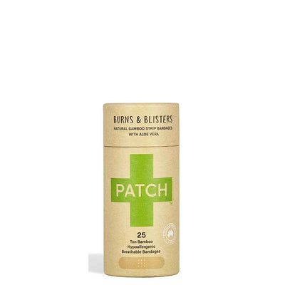 PATCH Aloe Vera Adhesive Bamboo Bandages - Burns & Blisters - Natural Supply Co