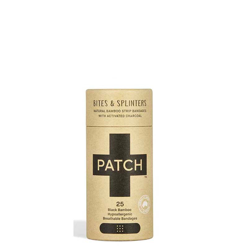 Buy PATCH Charcoal Black Adhesive Bamboo Bandages - Bites & Splinters online Australia