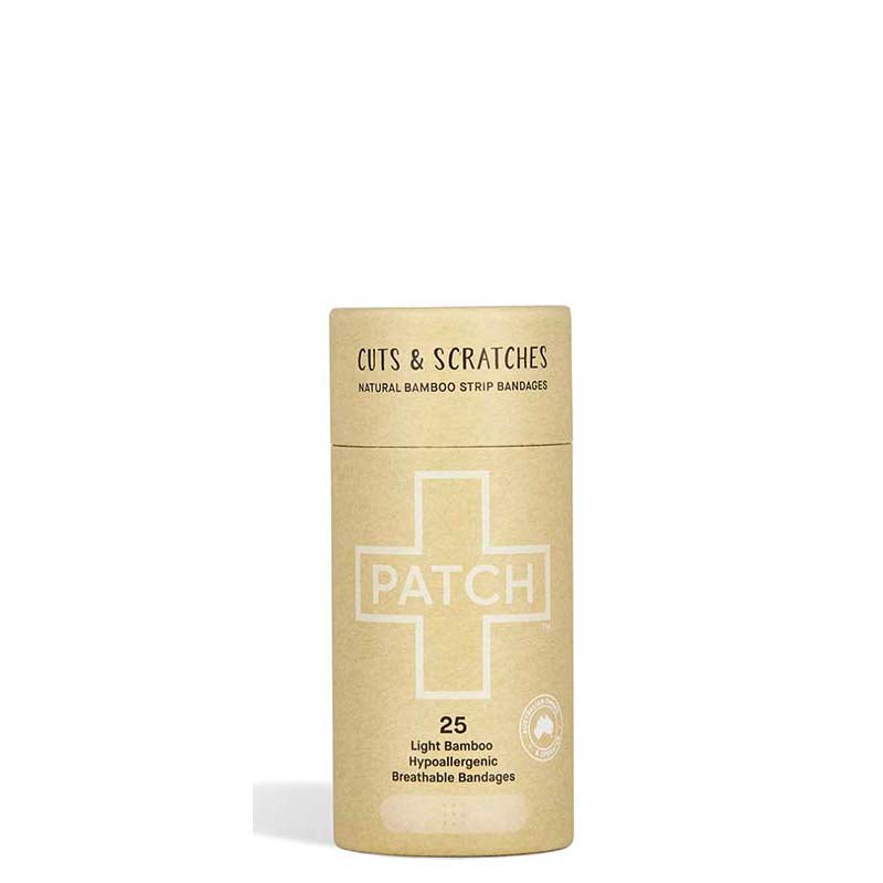 PATCH Natural Adhesive Bamboo Bandages - Cuts & Scratches - Natural Supply Co
