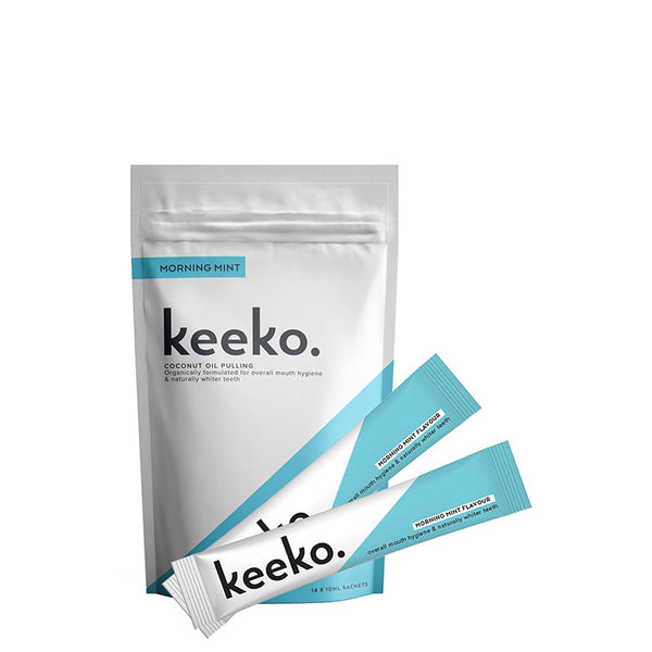 keeko Coconut Oil Pulling Pack - Morning Mint at Natural Supply Co
