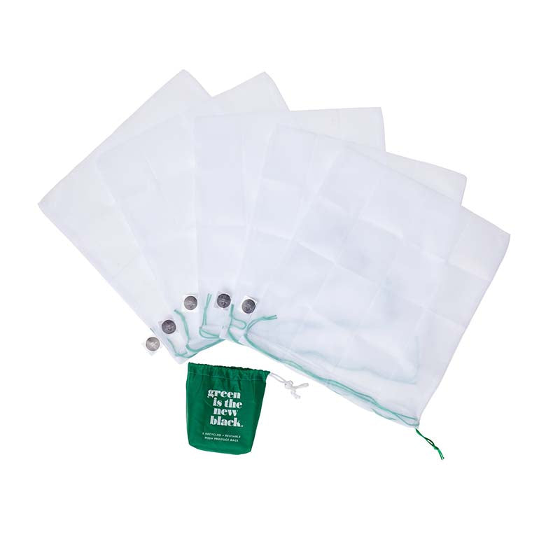 Buy Project Ten Recycled Mesh Produce Bags - 5 pack online Australia