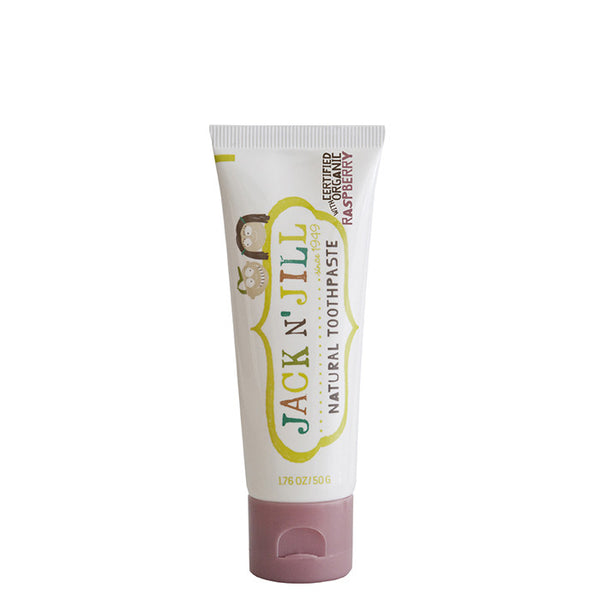 Jack N' Jill Natural Kids' Toothpaste - Raspberry at Natural Supply Co