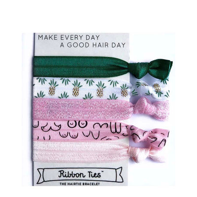 Ribbon Ties Hair Ties - Cheeky Pineapples - Natural Supply Co