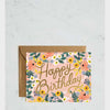 Rifle Paper Co Floral Happy Birthday Card