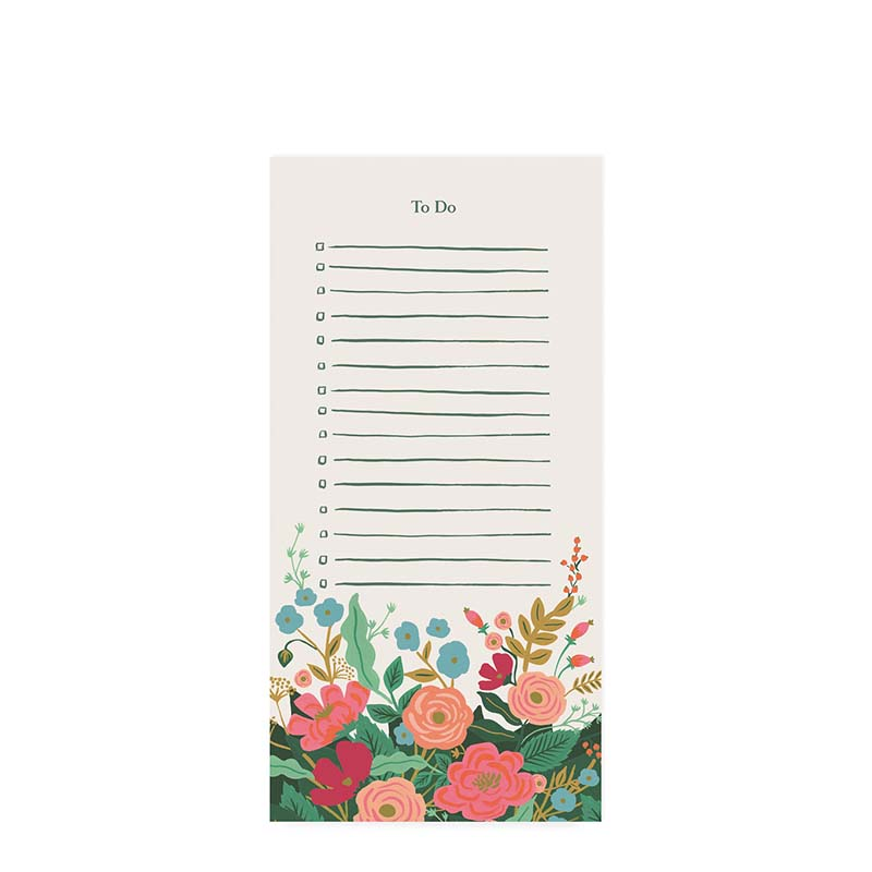 Rifle Paper Co Floral Vines To-Do List