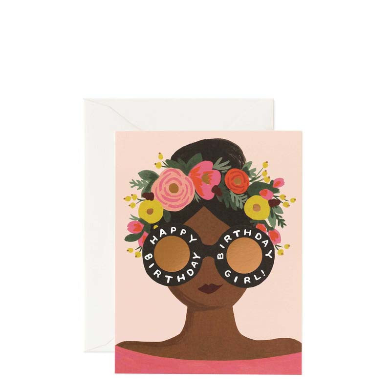 Rifle Paper Co Flower Crown Happy Birthday Card