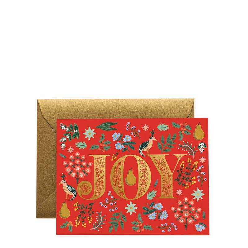 Rifle Paper Co Joy Christmas Card