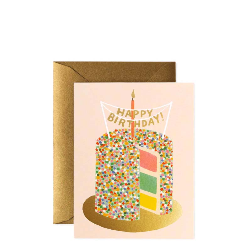 Rifle Paper Co Layer Cake Happy Birthday Card