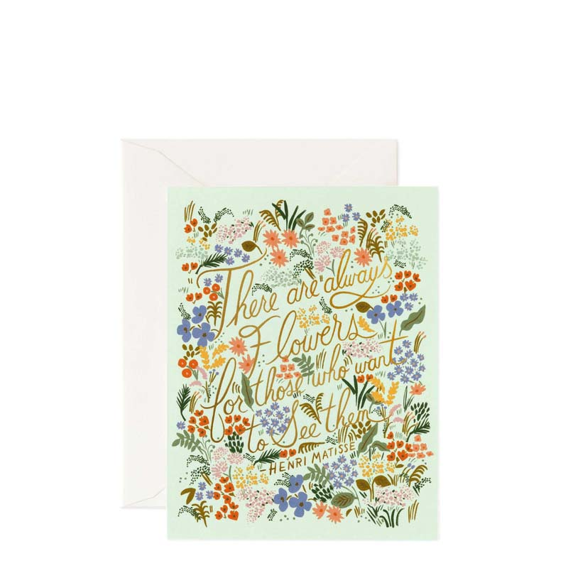 Rifle Paper Co Matisse Quote Card