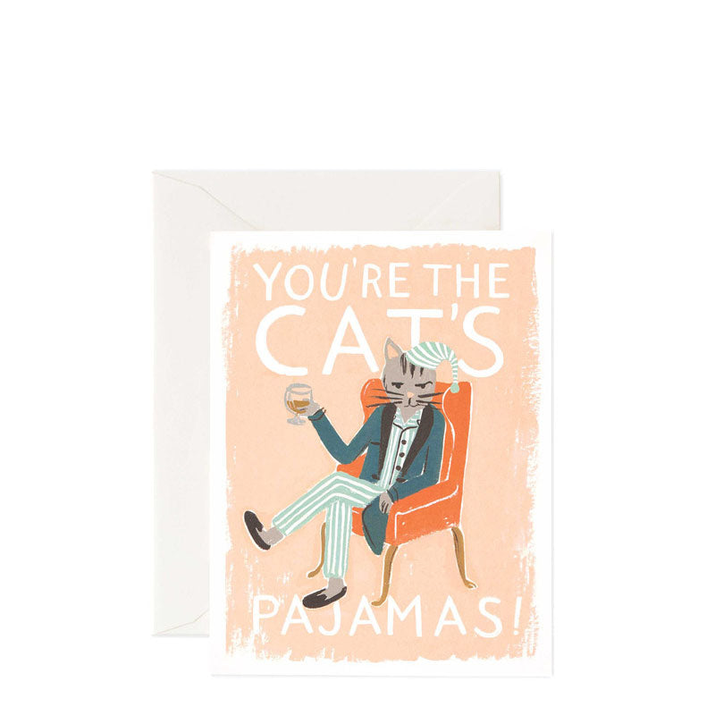 Rifle Paper Co You're the Cat's Pyjamas! Card