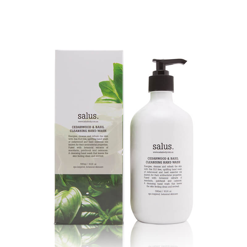 Salus Cedarwood & Basil Cleansing Hand Wash - 500ml - Natural Supply Co