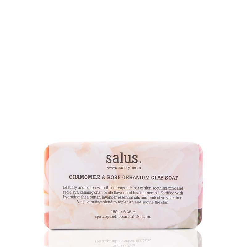 Salus Chamomile & Rose Geranium Clay Soap - Natural Supply Co