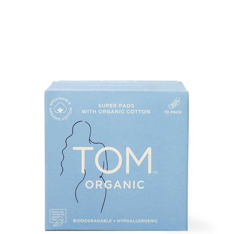 TOM Organic Super Ultra Thin Pads - Natural Supply Co