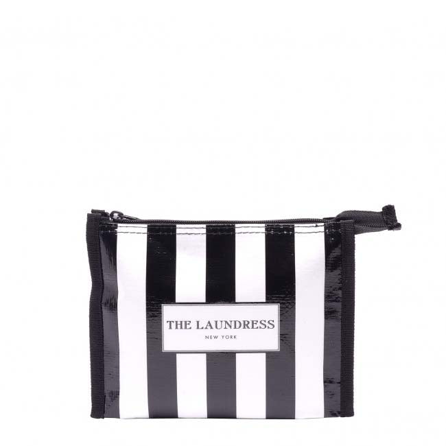 The Laundress Black & White Striped Travel Pouch - Natural Supply Co