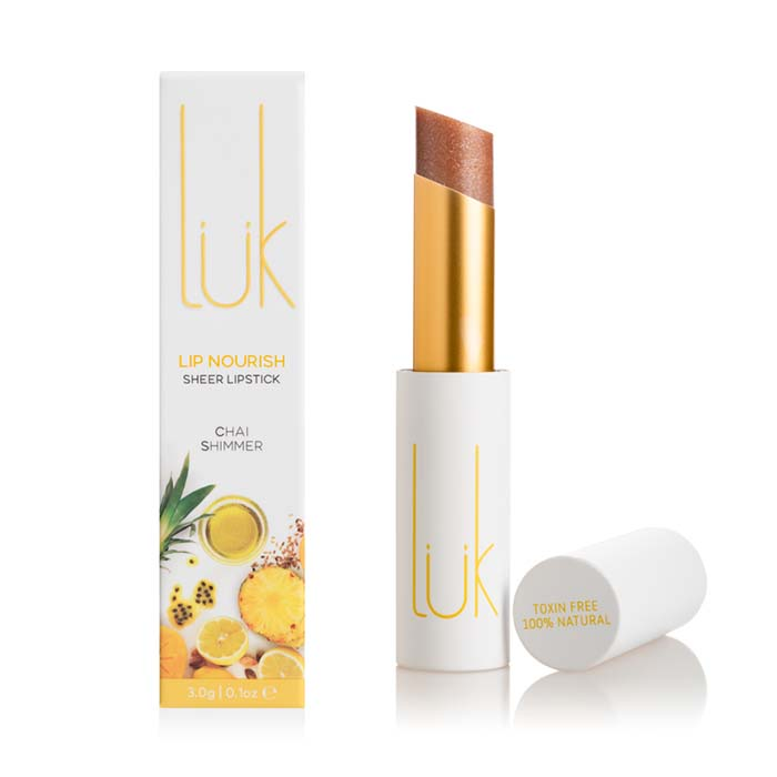lük beautifood Lip Nourish - Chai Shimmer - Natural Supply Co