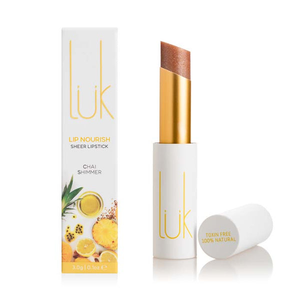 lük beautifood Lip Nourish - Chai Shimmer at Natural Supply Co