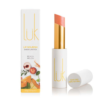 lük beautifood Lip Nourish - Peach Melon - Natural Supply Co
