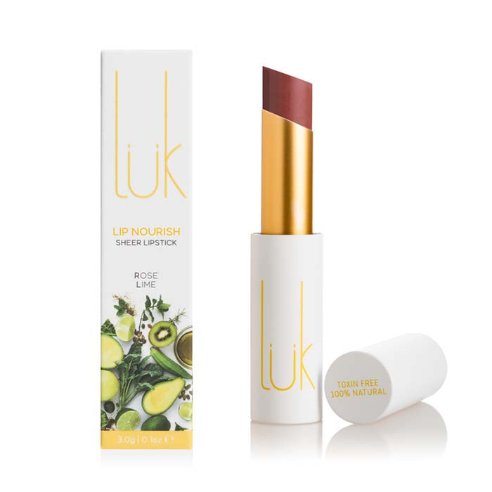 luk beautifood Lip Nourish - Rose Lime at Natural Supply Co