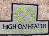 Hemp Yoga Mat Throw and Bag from High on Health