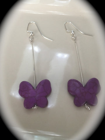 "Fish Hook Butterfly Drop Earring Set the ""Shirley"""