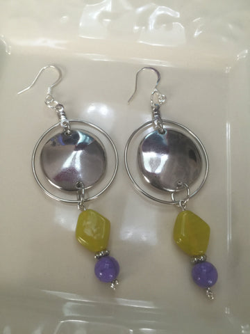 "Hoop Drop Earring Set the ""Shirley"""
