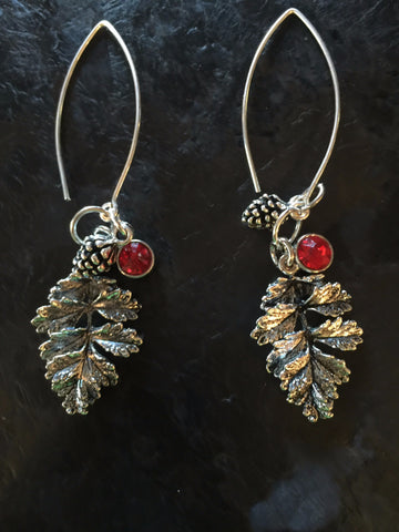 Winter Balsam & Pine Cone Hook Earring Set