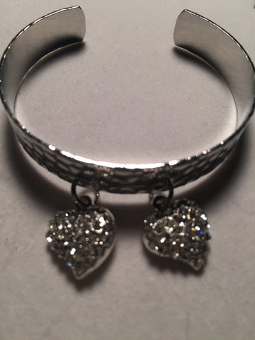 Two Hearts Valentine's Cuff Bracelet