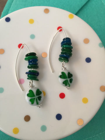 Beaded Spring Hook Earrings