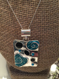 Silver Plated Paint Splash Pendant Necklace