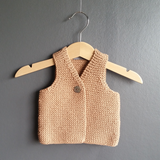 -35% CHILL hand knitted body warmer in bulky cotton yarn