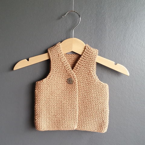 CHILL hand knitted body warmer in bulky cotton yarn