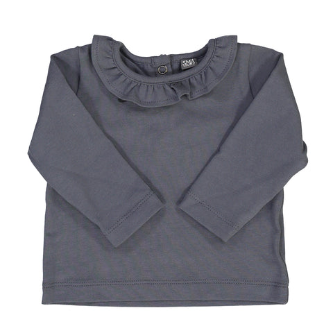 HORTENSE frill top - grey