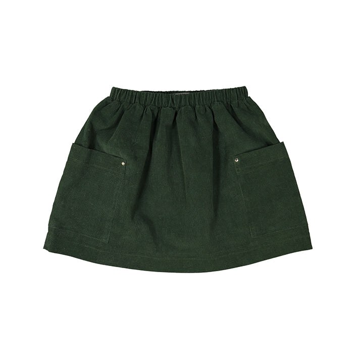 TARA babycord skirt forest green
