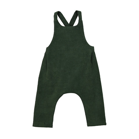 TED babycord dungarees forest green