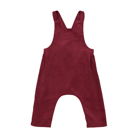 TED babycord dungarees wine red