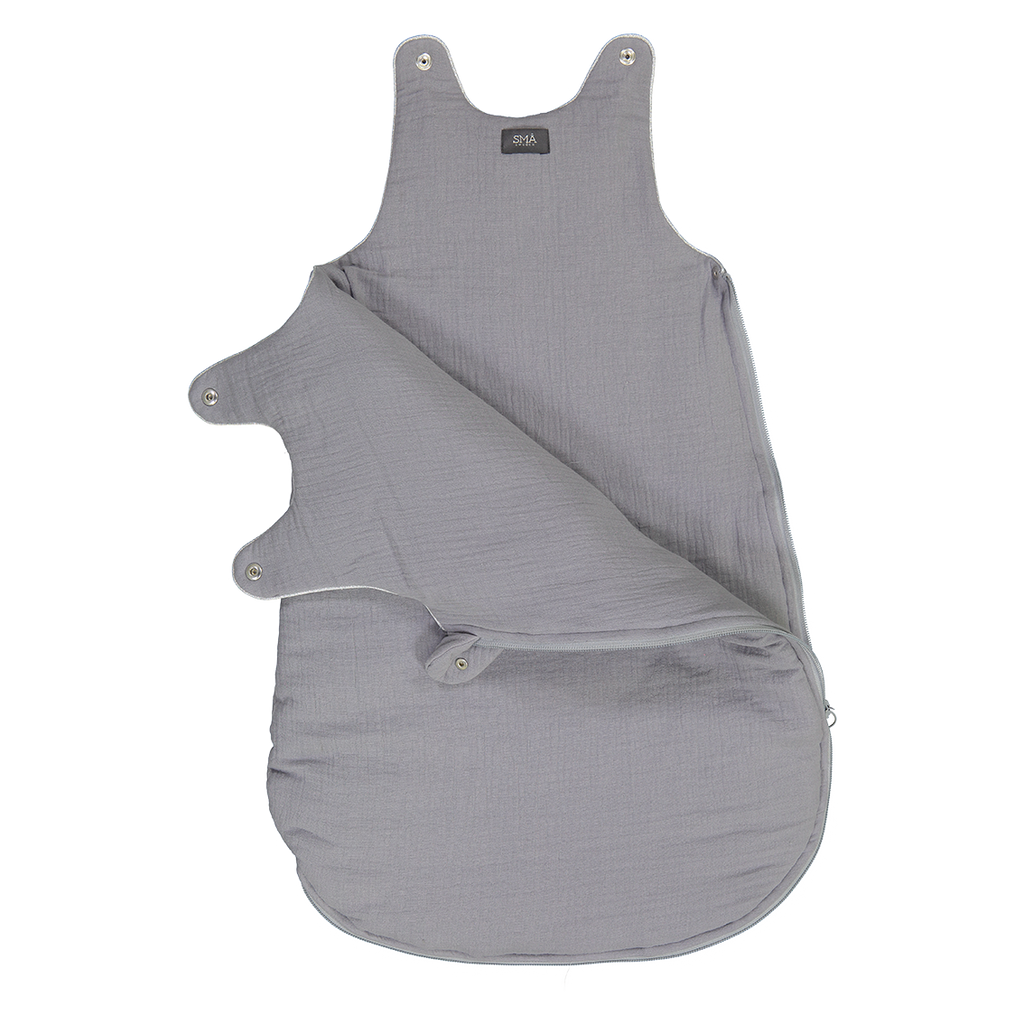 LAZY sleepingbag -  organic double gauze - grey