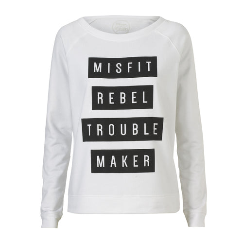 Misfit Rebel Trouble Maker Sweatshirt