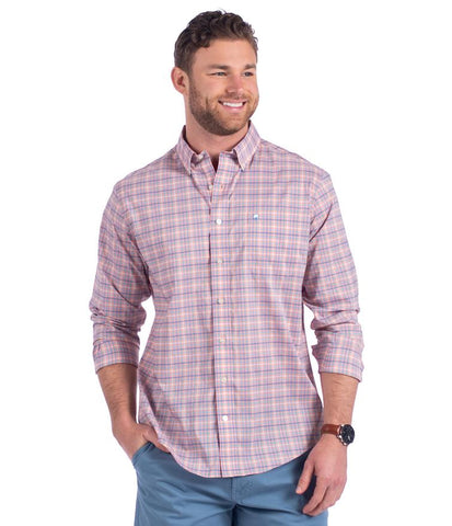 Product Image: Broadstreet Check Button-Down in Peachtree