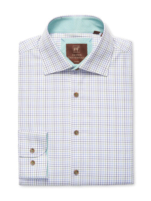 James Tattersall Green Suffolk Dress Shirt
