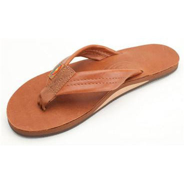 Women's Single Layer Premier Leather Flip Flop with Arch Support