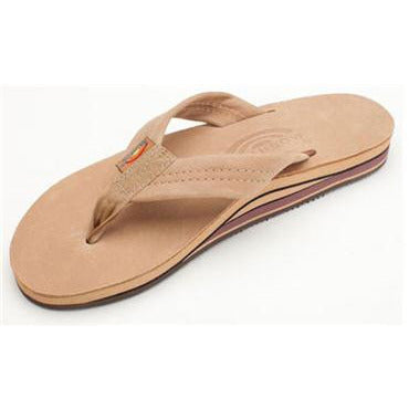 Women's Double Layer Premier Leather Flip Flop with Arch Support
