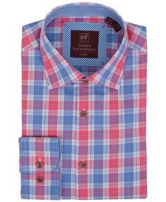 James Tattersall Red Bristol Dress Shirt