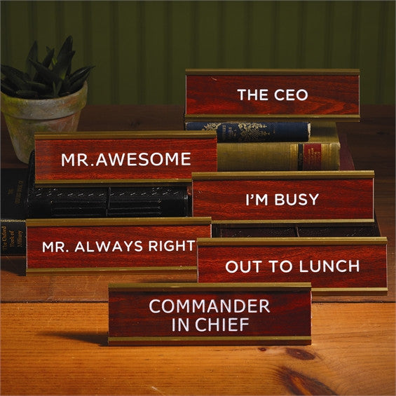 Name Plates with Assorted Sayings